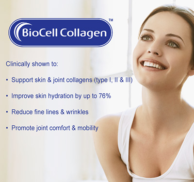 Supports skin and joint collagens and improve skin hydration plus reduces fine lines and wrinkles